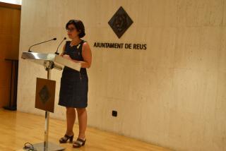 Montserrat Vilella durant la roda de premsa