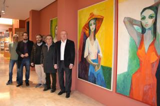 Els alcaldes de Reus i Montblanc a l'exposició de Maties Palau
