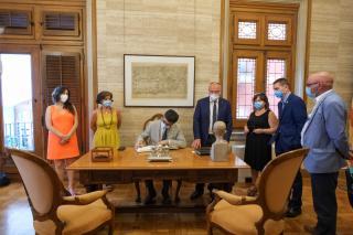 Visita institucional del conseller de Polítiques Digitals i Administració Pública, Jordi Puigneró