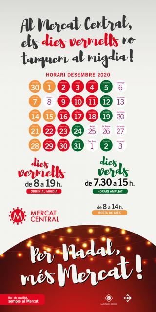 Cartells horaris Nadal Mercat Central