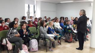 Imatge de la primera reunió dels representants del Consell d'Infants Ciutadans 2019
