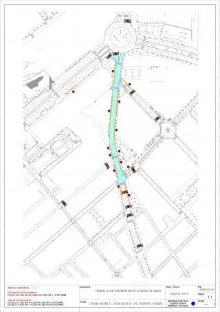 Plànol de l'afectació al trànsit