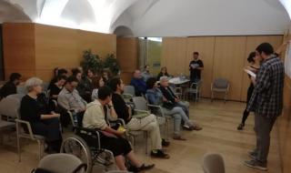Imatge del taller participatiu realitzat el 10 d'octubre de 2018 a l'antic hospital