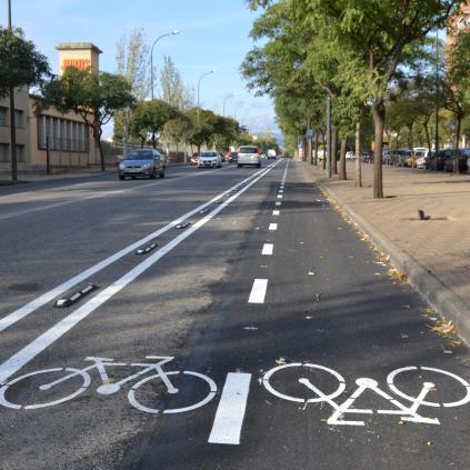 Accedeix a Foto del carril bici de l'avinguda de Falset
