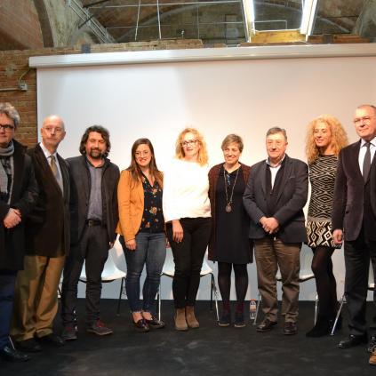 Accedeix a Els representants comercials amb l'alcalde Carles Pellicer i la regidora Montserrat Caelles