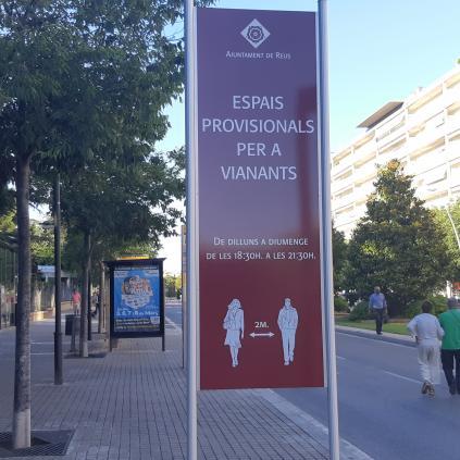 Accedeix a Imatge, aquest vespre, de l'Avinguda Sant Jordi, un dels àmbits segurs per a vianants.
