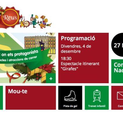 Accedeix a Captura de pantalla de l'app de la campanya de Nadal