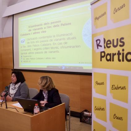 Accedeix a Imatge d'arxiu del procés de presentació de projectes candidats als Pressupostos participatius de 2018, el març de 2018