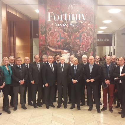Accedeix a Imatge de la visita de la delegació reusenca a l'exposició sobre Fortuny a El Prado