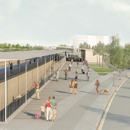 Accedeix a Imatge virtual de la futura estació Reus-Bellissens