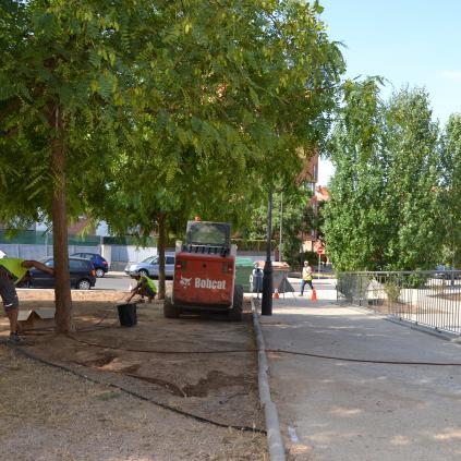 Accedeix a Foto de les obres al barri Gaudí
