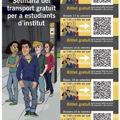 Accedeix a Bus gratuït alumnes instituts