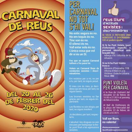 Accedeix a Imatge dels punts violeta del carnaval 2020