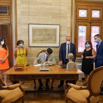 Accedeix a Visita institucional del conseller de Polítiques Digitals i Administració Pública, Jordi Puigneró