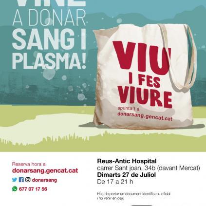 Accedeix a Cartell donació sang