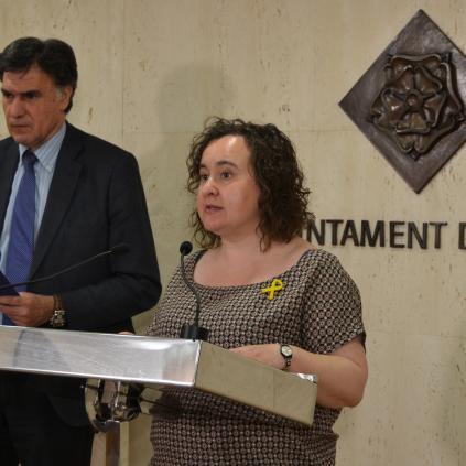 Accedeix a Imatge compareixença regidor de Seguretat, Joaquim Enrech, i regidora de Participació, Montserrat Flores