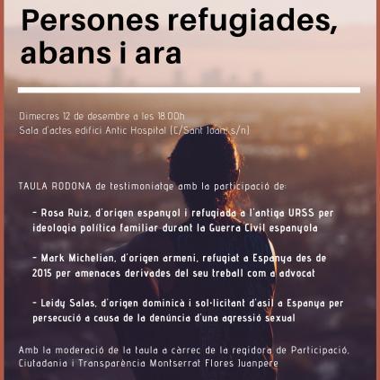 Accedeix a Cartell taula rodona experiència persones refugiades Reus 2018
