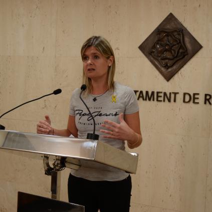Accedeix a Imatge de la regidora de Salut Noemí Llauradó durant la presentació del Pla de Salut de Reus 2018-2022