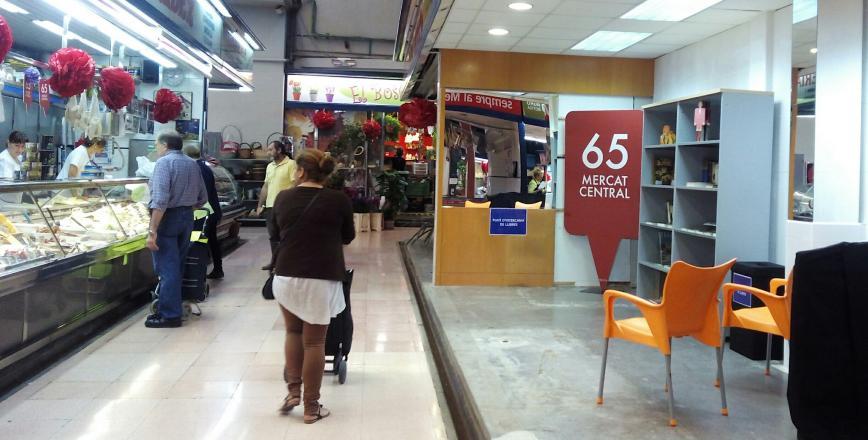 Punt d'intercanvi de llibres al Mercat Central
