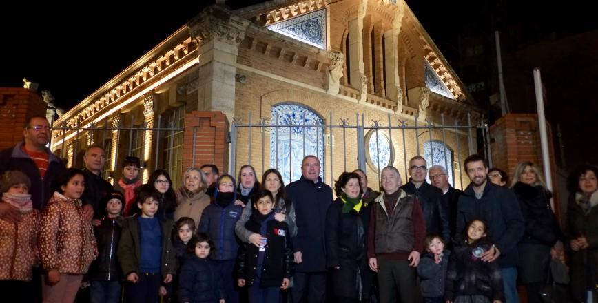 Inauguració il·luminació façana Prat de la Riba