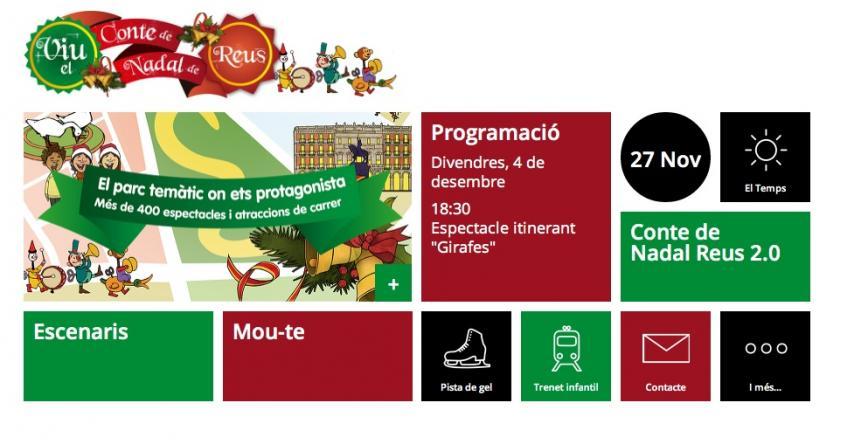 Captura de pantalla de l'app de la campanya de Nadal