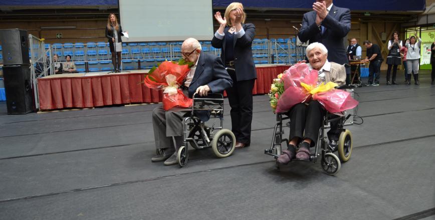 Foto de l'homenatge realitzat a les persones més grans de Reus