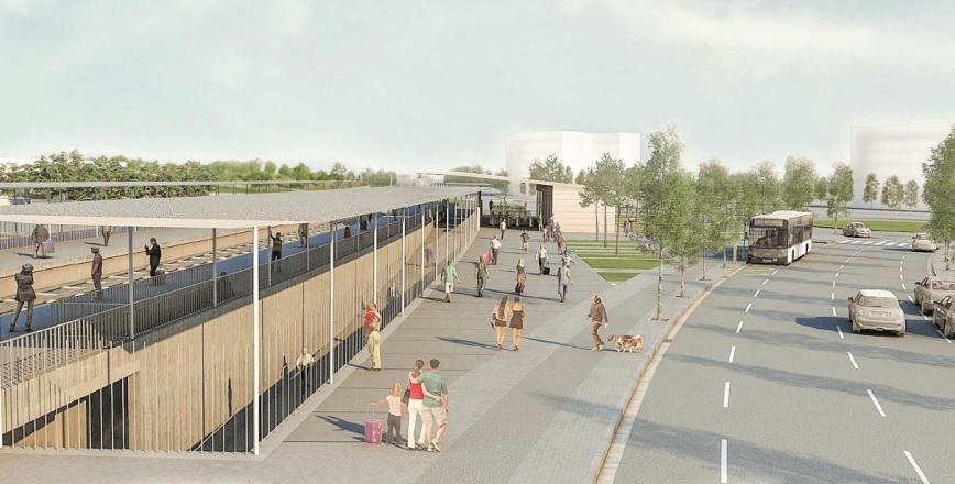 Imatge virtual de la futura estació Reus-Bellissens