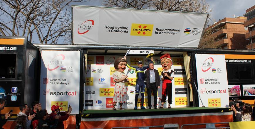 Reus acull el final de la sisena etapa de la Volta Ciclista a Catalunya