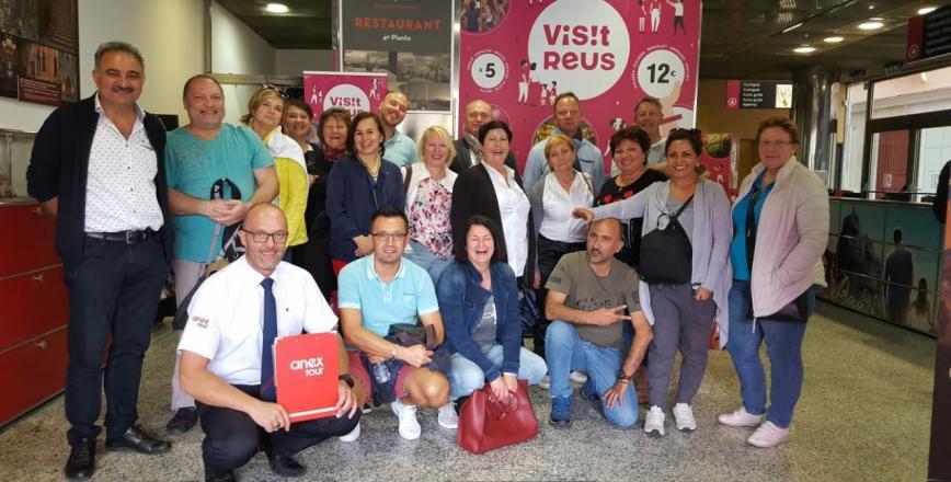Imatge de la visita dels agents de viatges d'Alemanya a Reus