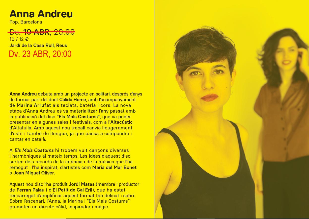 Concert RCC: Anna Andreu