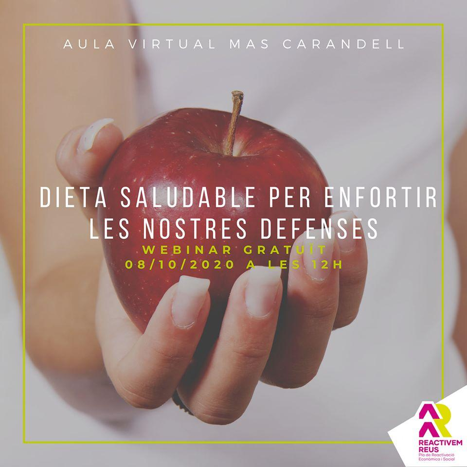 Webinar: Dieta saludable per enfortir les nostres defensesE
