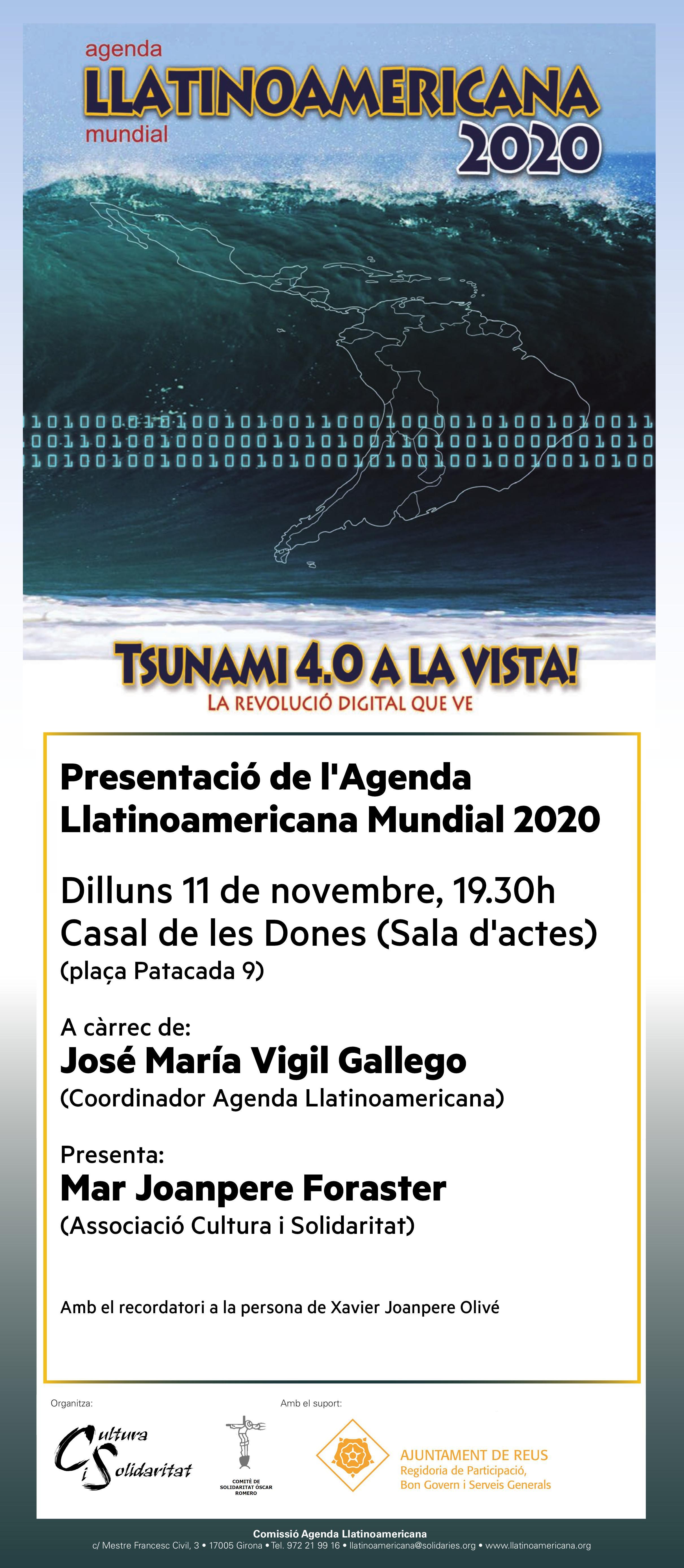 Presentació de l'Agenda Llatinoamericana Mundial 2020