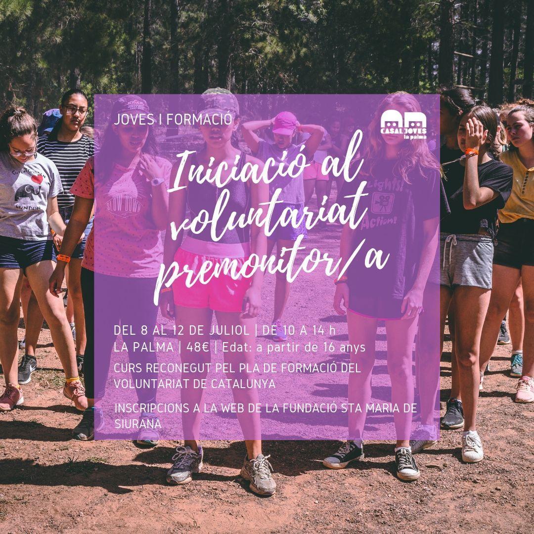 Iniciació al voluntariat i premonitor/premonitora