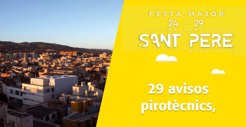 Sant Pere 2020: 29 avisos pirotècnics