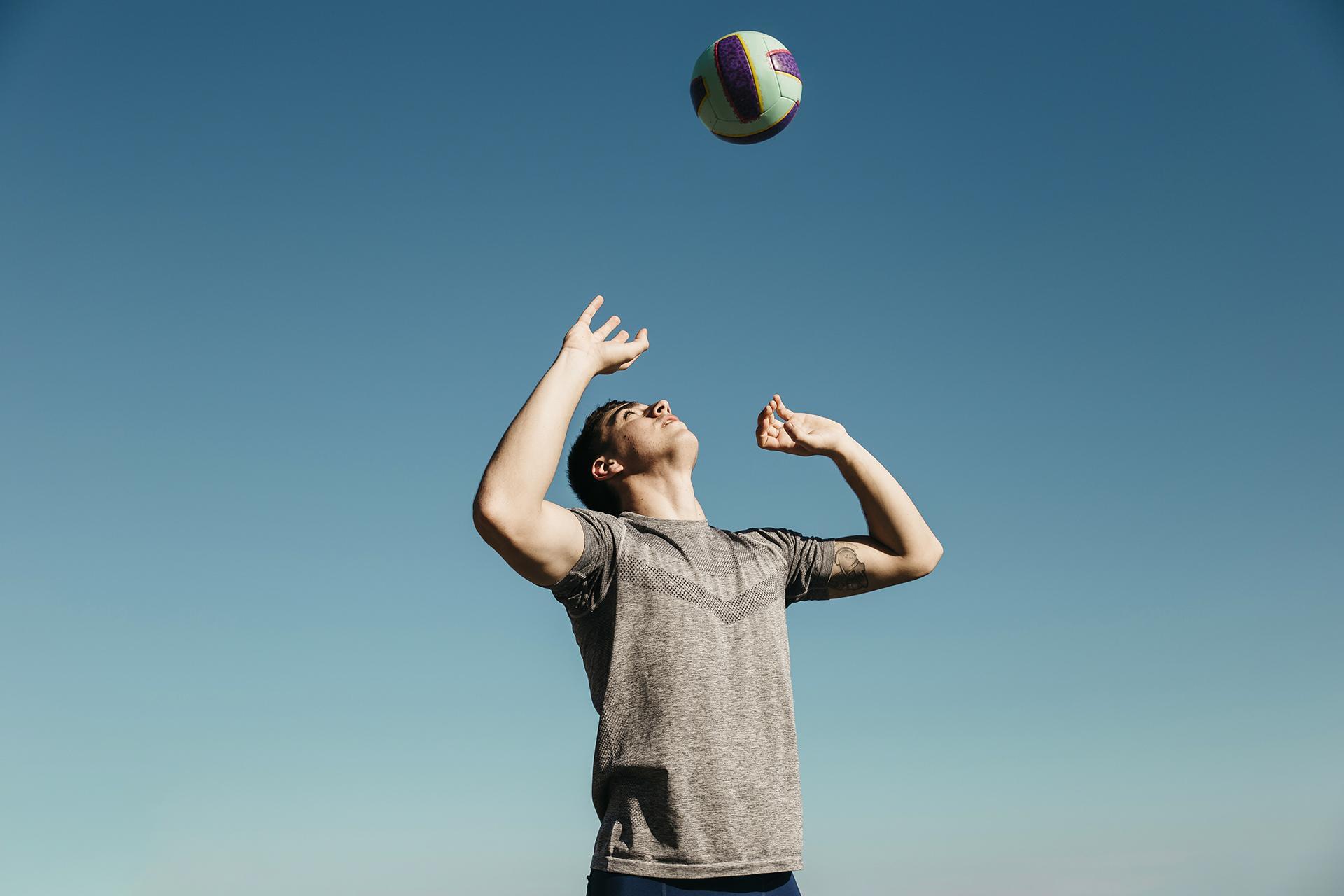 Entrenament iniciació de voleibol