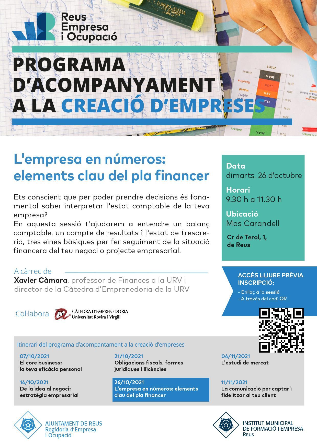 L'empresa en números: elements clau del pla financer