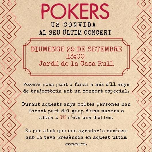 Concert acústic de comiat de Pokers