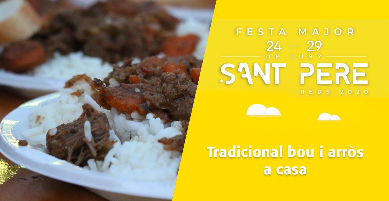 Sant Pere 2020: Tradicional bou i arròs a casa