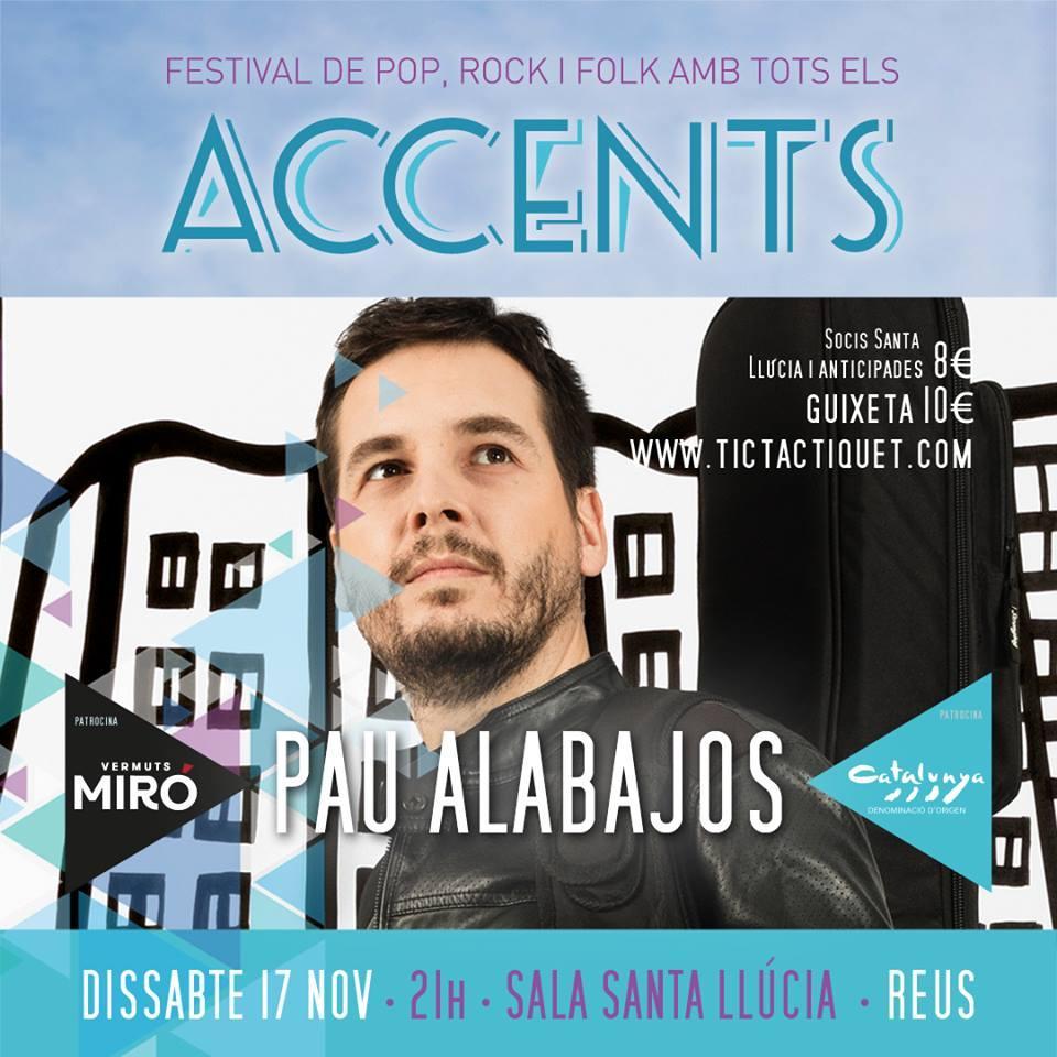 ACCENTS 2018 - Presentació del nou disc de Pau Alabajos