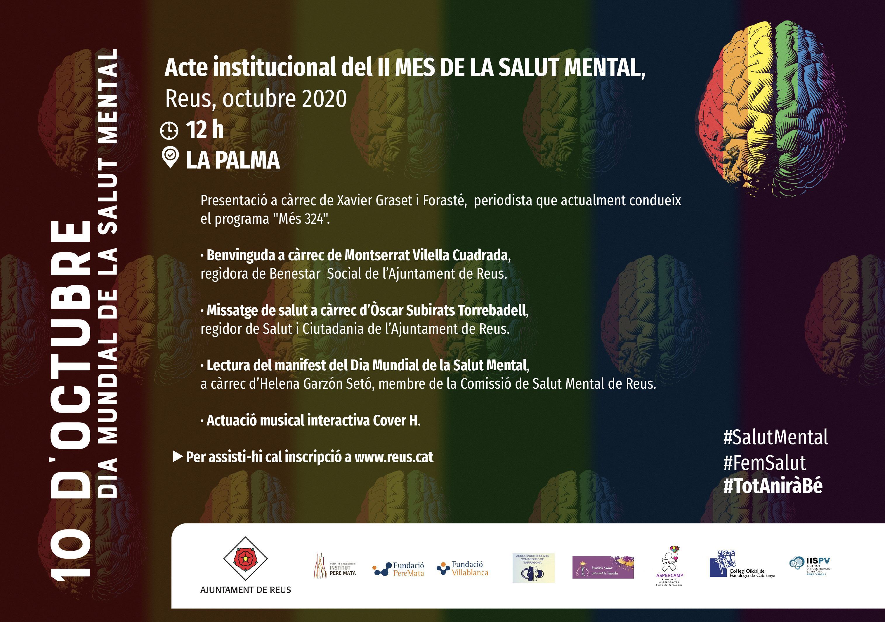 Acte Institucional II MES DE LA SALUT MENTAL, conduït per Xavier Graset