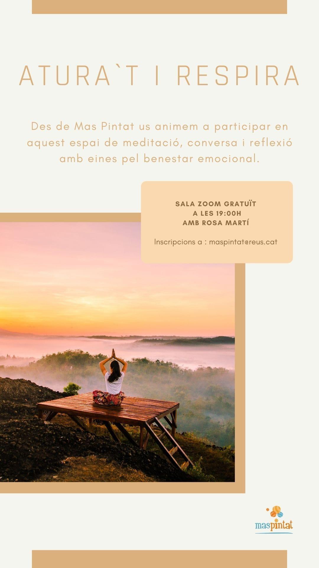 ATURA'T I RESPIRA - espai de meditació per adults. Sessió sobre EL SILENCI.