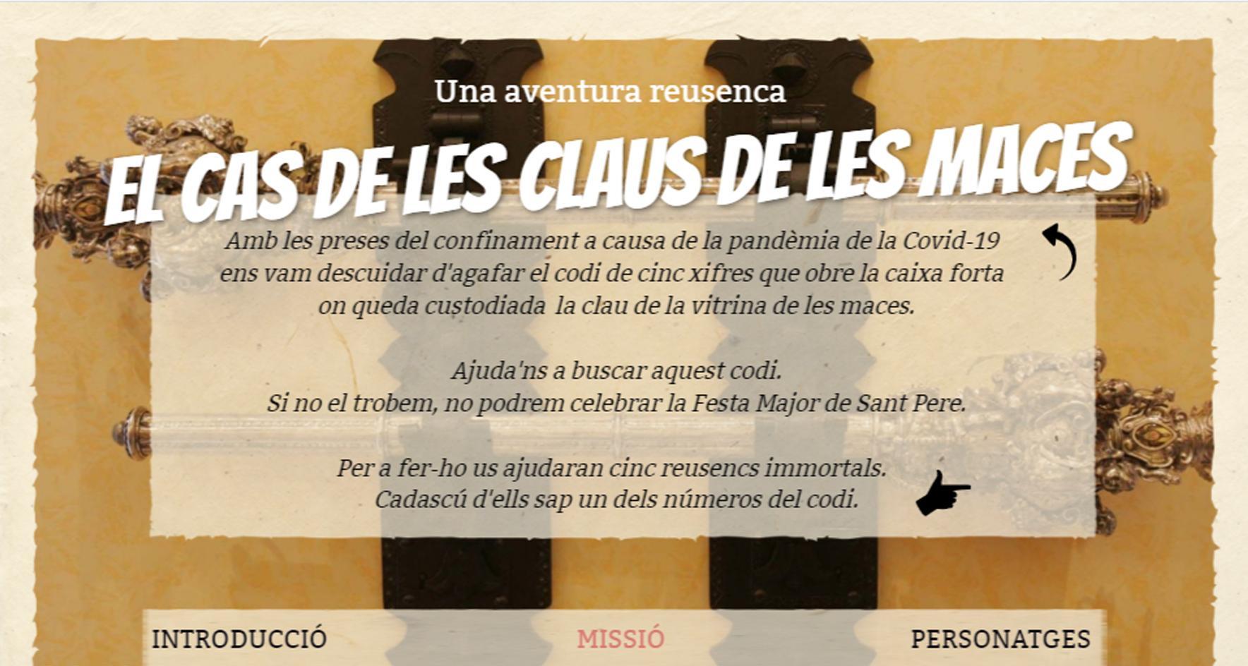 Museu de Reus: Joc en línia - Aventura reusenca