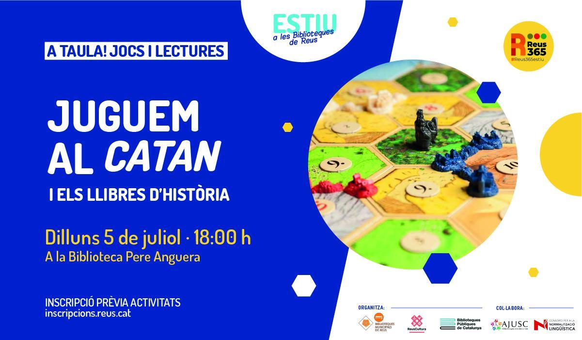Biblioteca Pere Anguera: Juguem al Catan! I els llibres d'historia