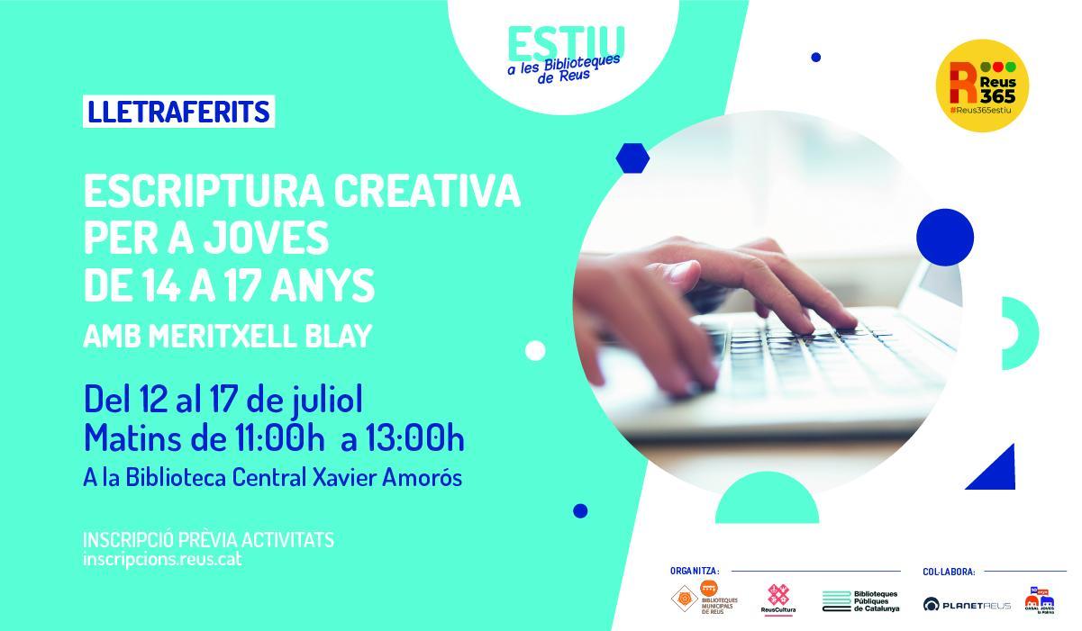 Biblioteca Central Xavier Amorós: Escriptura creativa per a joves de 14 a 17 anys