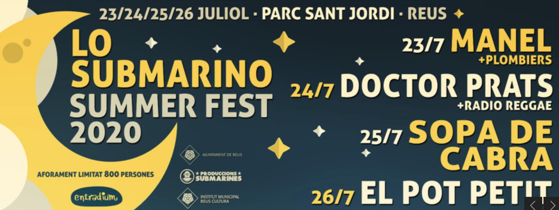 Submarino Festival- Manel, Doctor Prats, Sopa de Cabra i El Pot PetitE