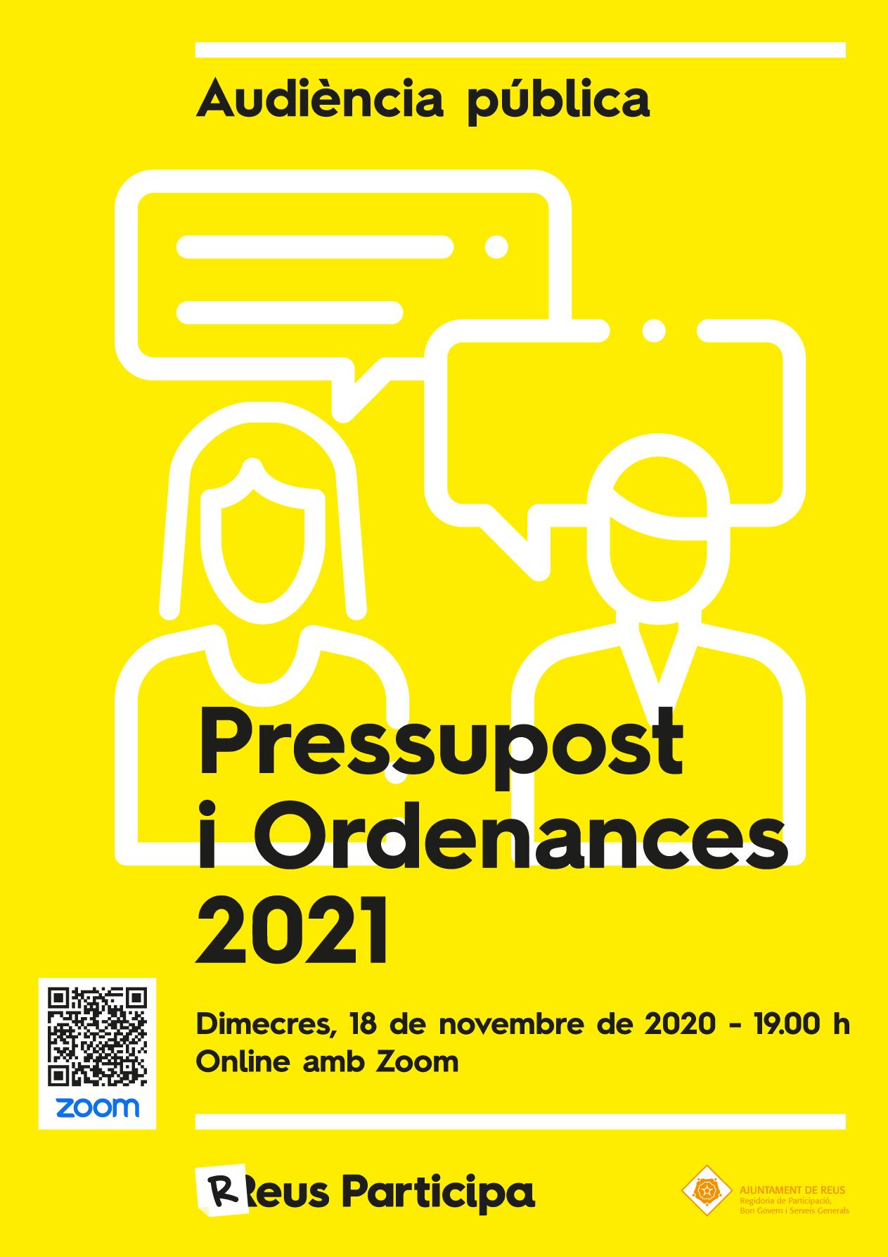 Audiència Pública de Pressupost i Ordenances 2021