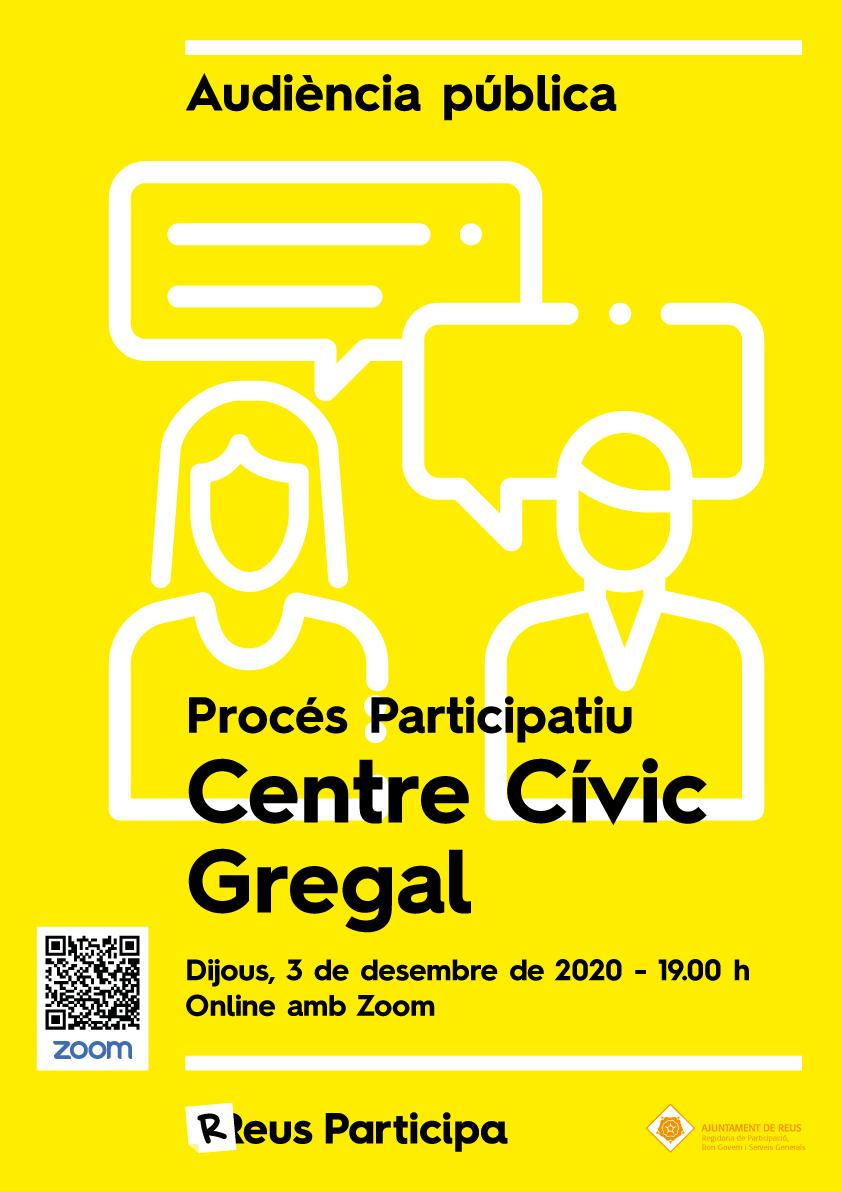 Audiència Pública procés participatiu nou Centre Cívic Gregal