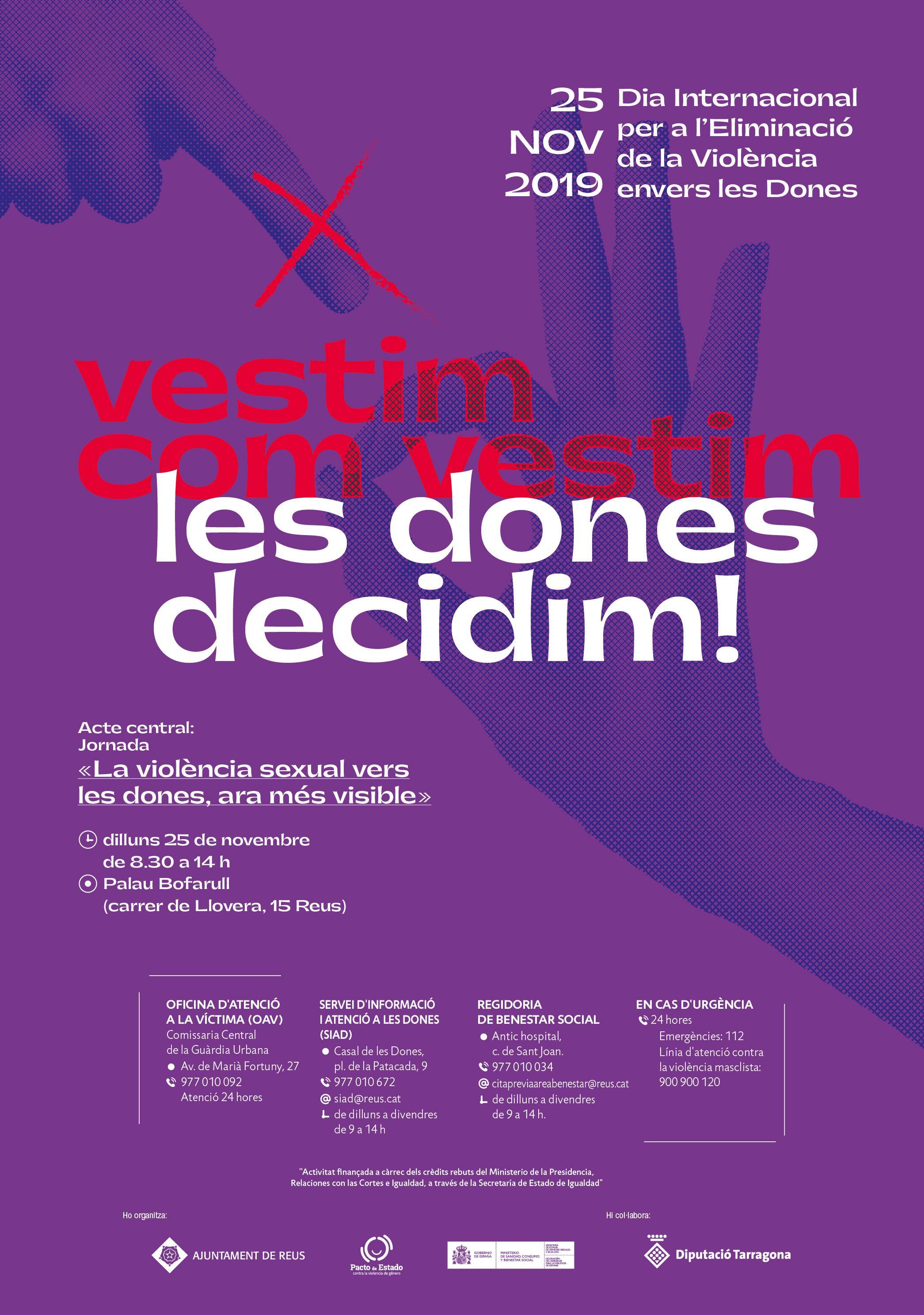 """Jornada """"La violència sexual vers les dones, ara més visible"""""""