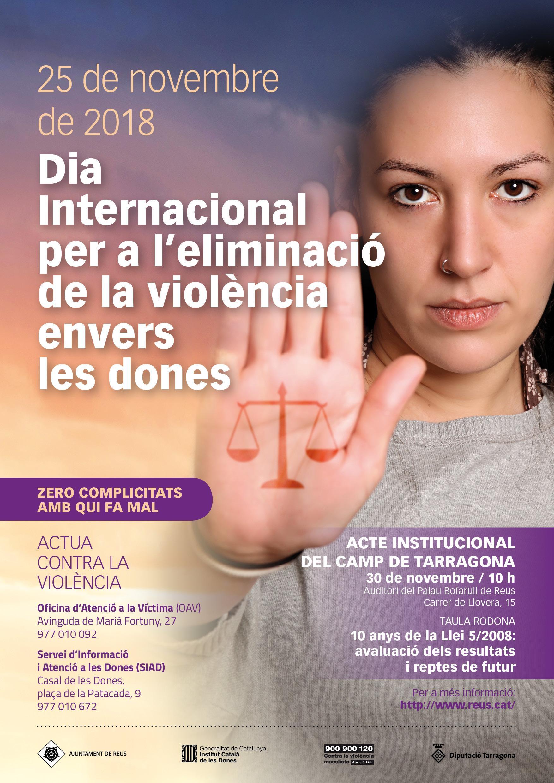 Acte institucional del Camp de Tarragona amb motiu del Dia Internacional per a l'eliminació de la violència envers les dones 2018
