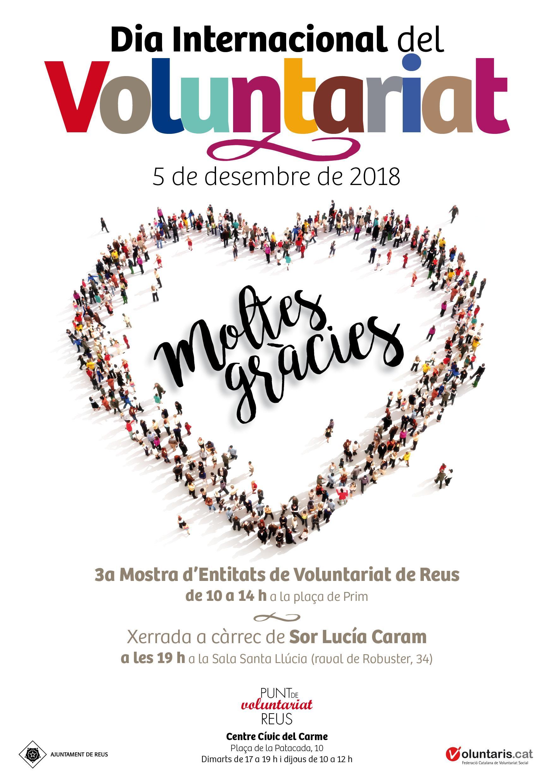 "Xerrada de SOR LUCÍA CARAM: ""El voluntariat al segle XXI"""